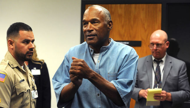 Free man: O.J. Simpson was granted parole after spending nine years in prison for armed robbery in Las Vegas in 2007.