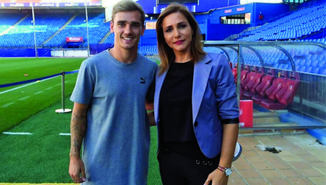 Getting to know you: Antoine Griezmann with Liliane Tannoury.