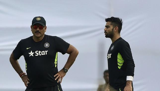 Coach and captain: Ravi Shastri and Virat Kohli.