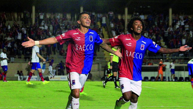 Samba star: Renatinho celebrating with Parana Clube (Parana).