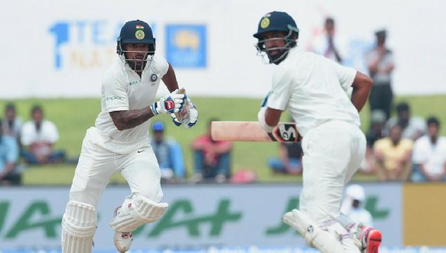 Both, Dhawan and Pujara, scored centuries.