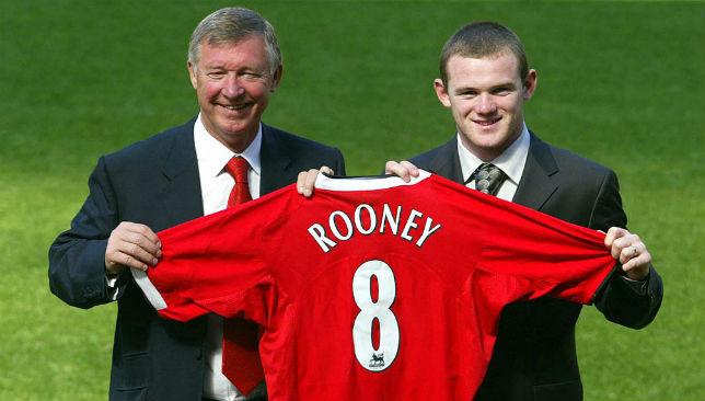 Sir Alex Ferguson (L), Wayne Rooney (R)