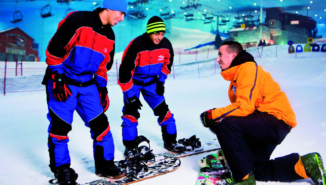 Board games: Snowboarding is popular at Ski Dubai.