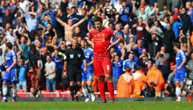 A 2-0 defeat to Chelsea on April 27, 2014, sparked by Steven Gerrard's mistake, saw the title slip away from Liverpool.
