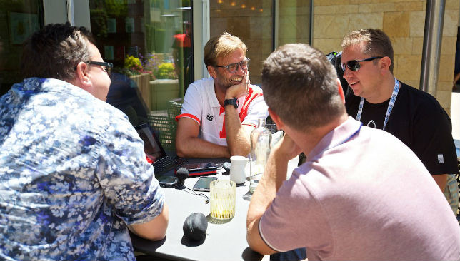 Catching up with Klopp: the lads from The Anfield Wrap meet the boss.