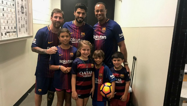 Barcelona stars lionel messi and luis suarez meet tiger woods after barcelona stars lionel messi and luis suarez meet tiger woods after miami clasico article sport360 m4hsunfo Choice Image