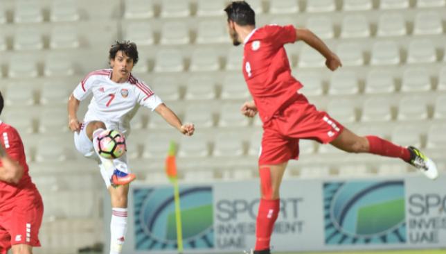 Time for a hero: Ahmed Al Attas (l) saved the UAE (UAE Football Association).