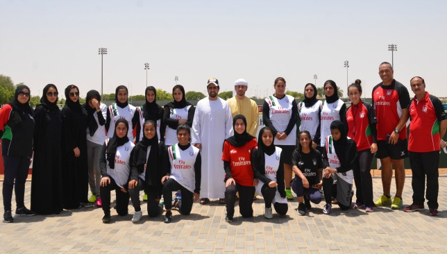 Perelini pictured with the UAE U-18s