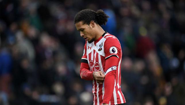 Van Dijk frustrated at Southampton