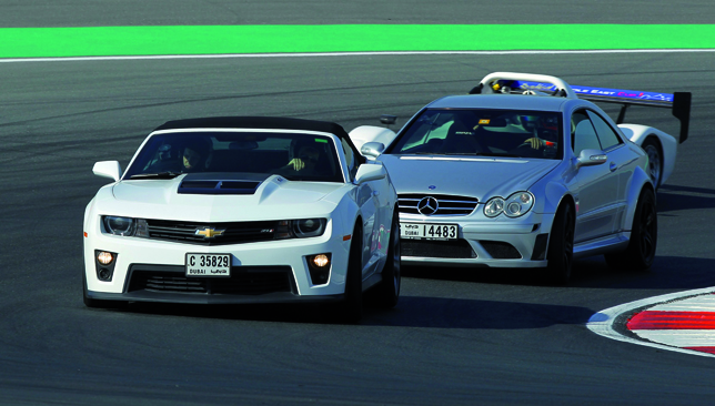 The need for speed: Put pedal to the metal in the safe confines of Dubai Autodrome.