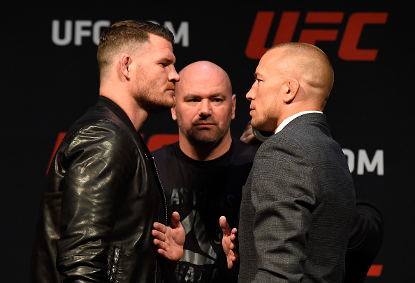 Bisping faces off with GSP