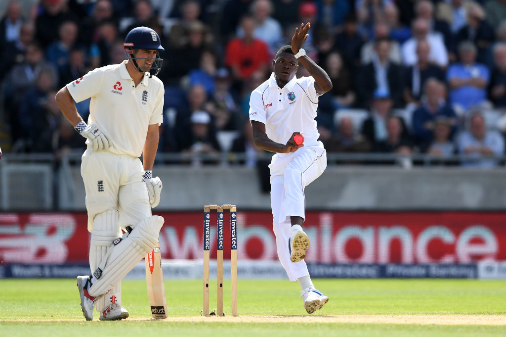 Gone with the Windies: Alzarri Joseph is a promising bowler.