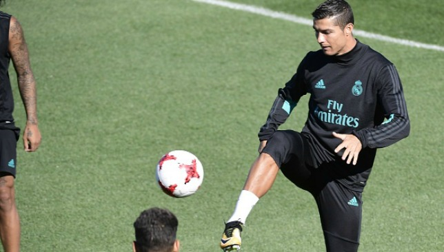 Ronaldo trains in the Spanish capital on Saturday.
