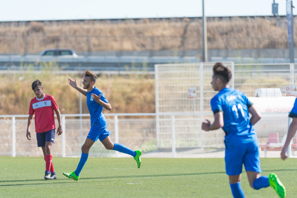 Driss Lightning: Matni (l) scored the only goal of the Under-18s match.