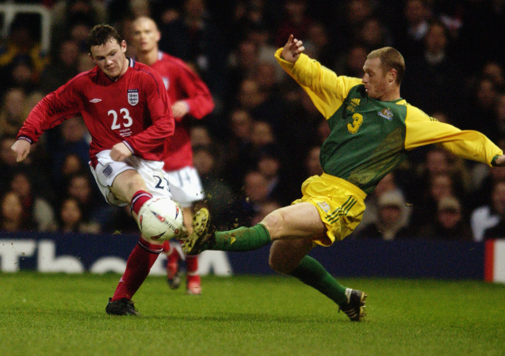 Rooney on his England debut against Australia
