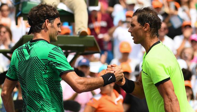 Best of frenemies: Federer and Nadal.