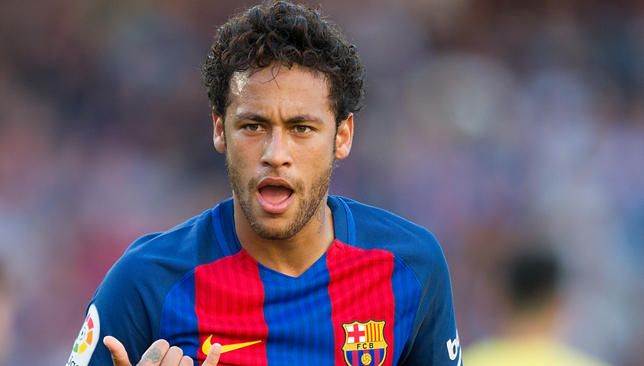 BARCELONA, SPAIN - MAY 06:  Neymar of FC Barcelona celebrates after scoring his team's opening goal during of the La Liga match between FC Barcelona and Villarreal CF at Camp Nou stadium on May 6, 2017 in Barcelona, Spain.  (Photo by Denis Doyle/Getty Images)