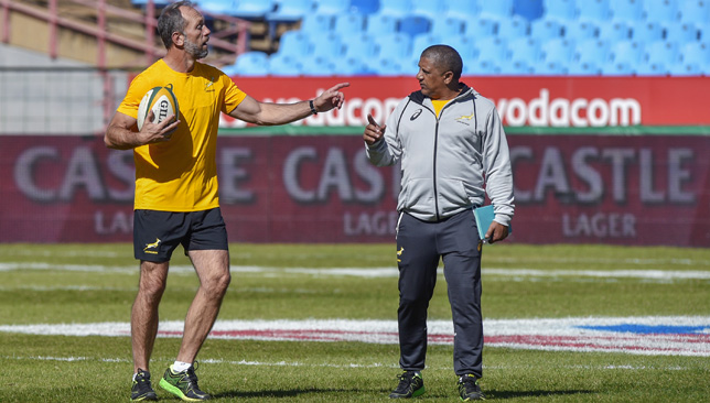South Africa's defence coach Brendan Venter