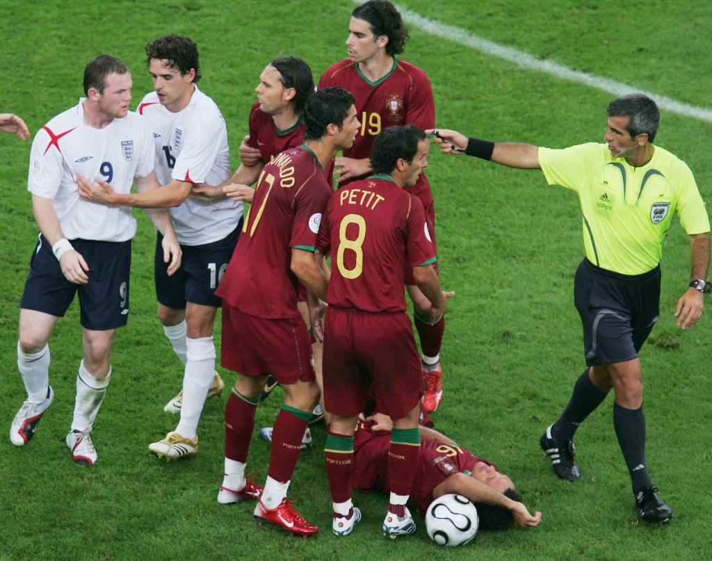 His sending off against Portugal in 2006