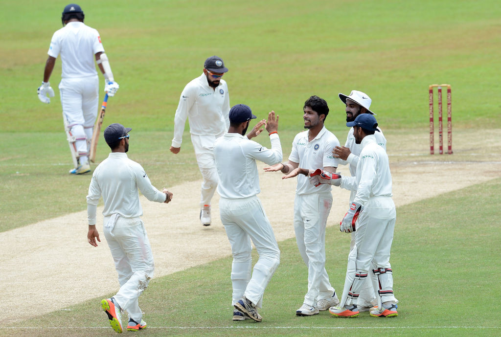 Tharanga walks back after being bowled by Yadav in the second innings