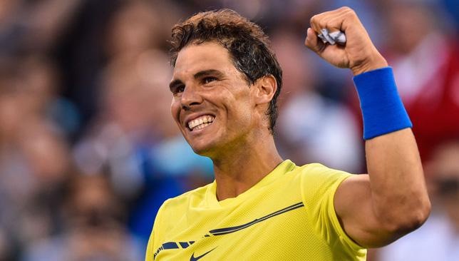 Marching on: Rafael Nadal.