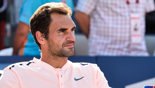 Out of action: Federer.