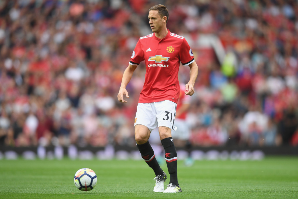 MANCHESTER, ENGLAND - AUGUST 13: Nemanja Matic of Manchester United in action during the Premier League match between Manchester United and West Ham United at Old Trafford on August 13, 2017 in Manchester, England. (Photo by Michael Regan/Getty Images)