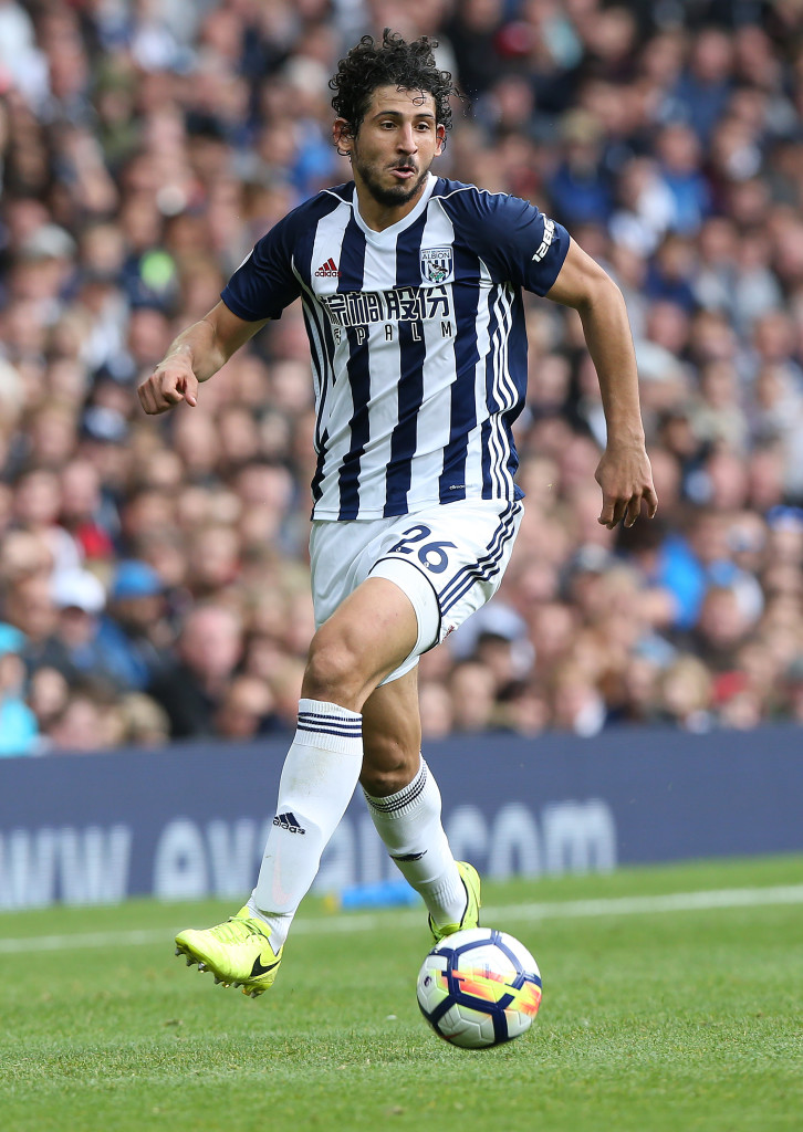 WEST BROMWICH, ENGLAND - AUGUST 12: Ahmed Hegazi of West Bromwich Albion during the Premier League match between West Bromwich Albion and AFC Bournemouth at The Hawthorns on August 12, 2017 in West Bromwich, England. (Photo by Nigel Roddis/Getty Images,)