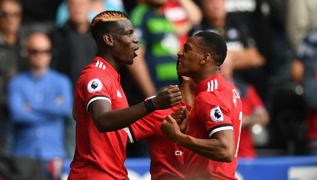 Paul Pogba was instrumental during United's win over Swansea.