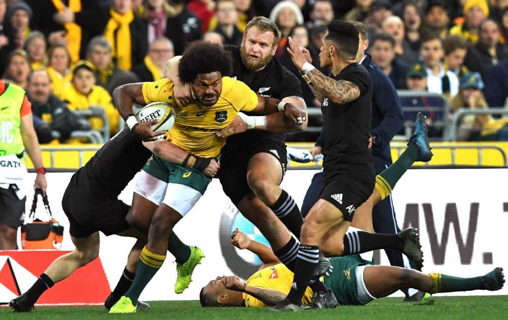 The All Blacks were unstoppable in their 54-34 drubbing of the Wallabies in Sydney.