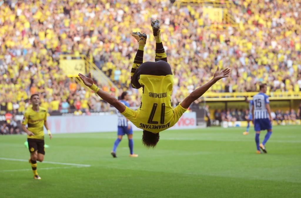 Dortmund's Gabonese forward Pierre-Emerick Aubameyang