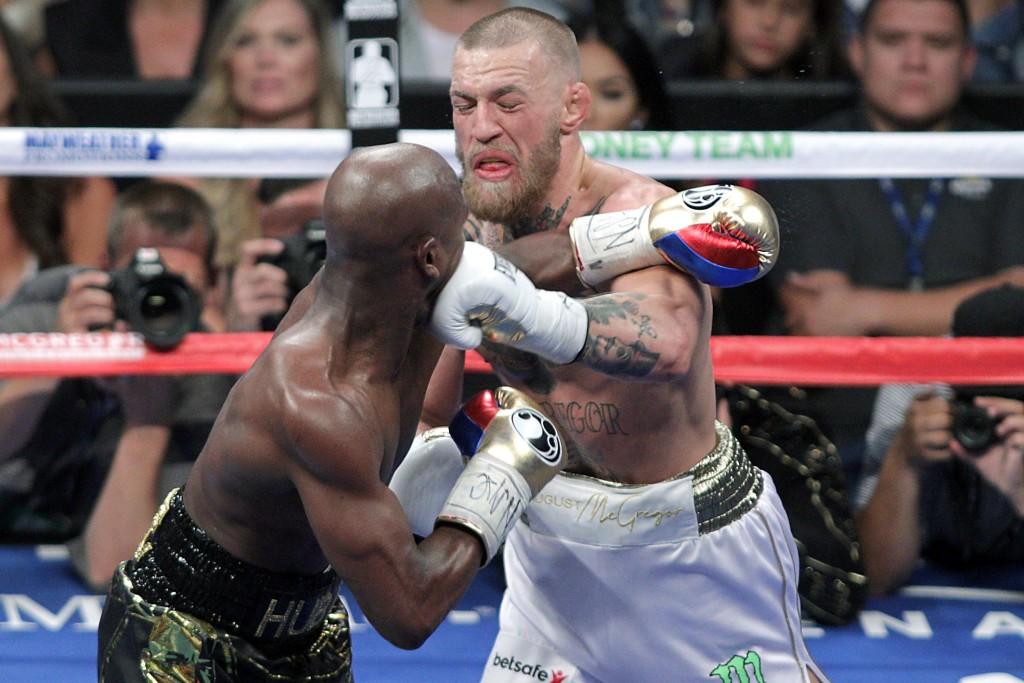 McGregor lands a left