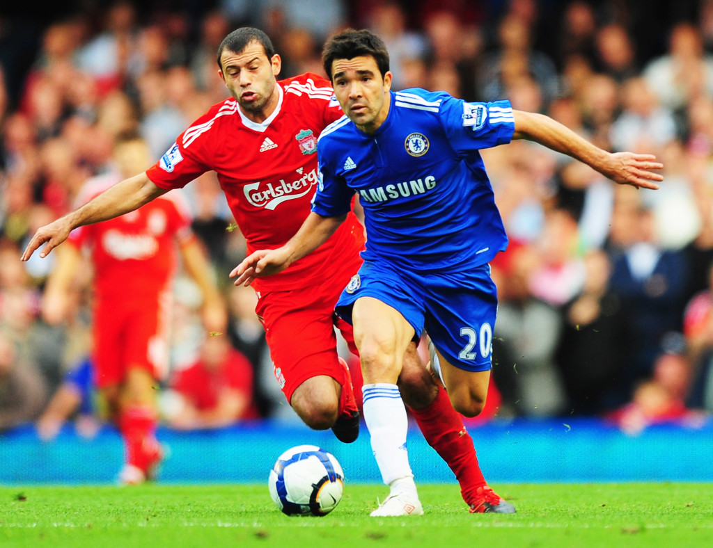 Deco in action for Chelsea against Liverpool in 2004