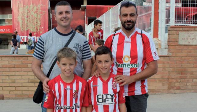 One big family: Girona's Jaume and Marti Boix (l), plus Jordi and Biel Lafuente (r)