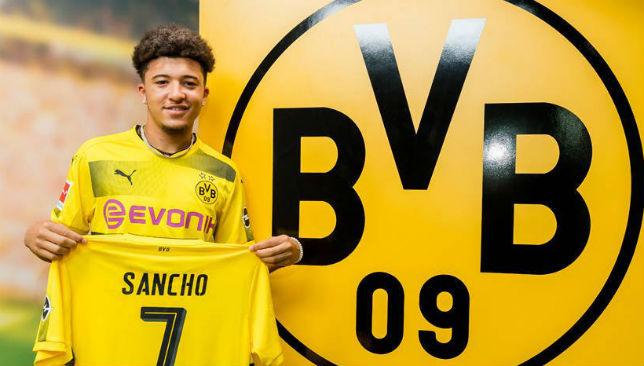 Borussia Dortmund swoop in for Man City whizkid Sancho
