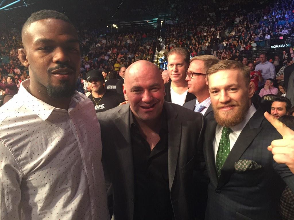 Jon Jones, Dana White and Conor McGregor