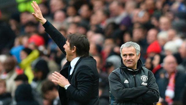 Touchline rivals: Conte and Mourinho.
