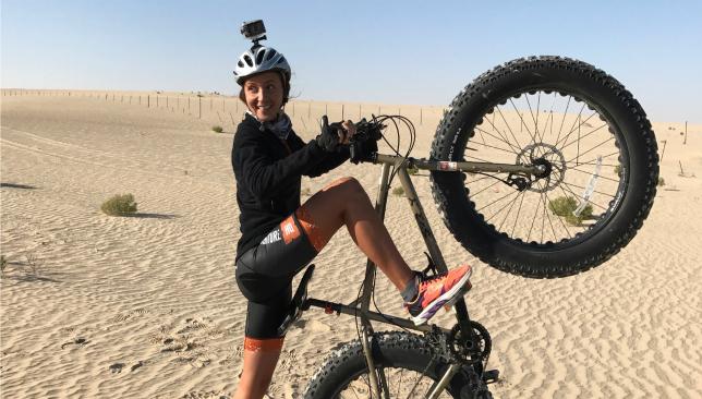 Zolotova previously cycled across the Liwa desert