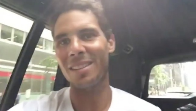 Happy man: Nadal.