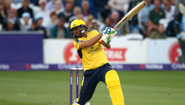 Still got it: Afridi blasted a century for Hampshire on Wednesday night.