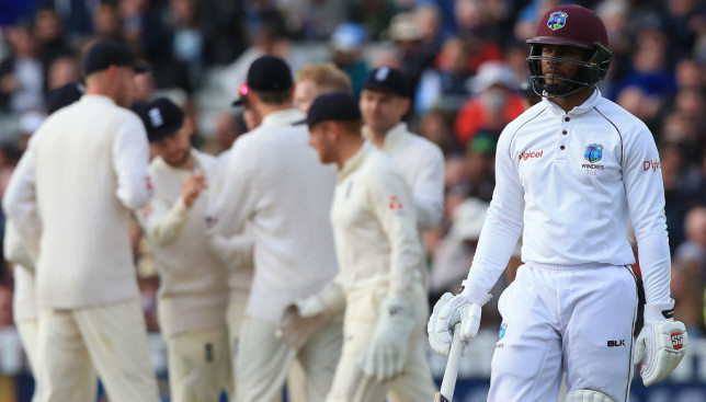 The West Indies were crushed at Edgbaston.