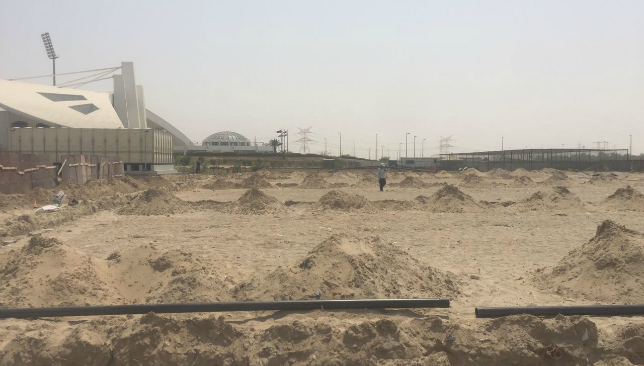 Work is ongoing at Sheikh Zayed Stadium in Abu Dhabi