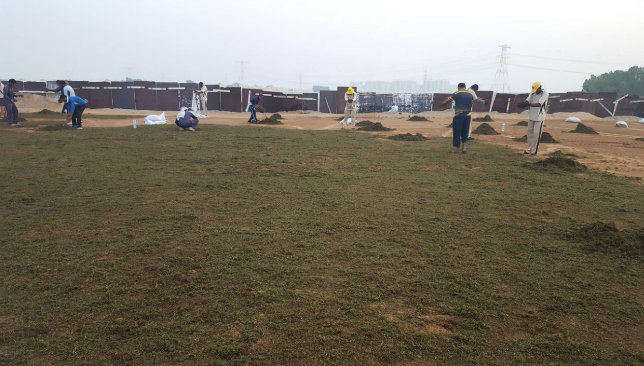Two FIFA-standard football pitches are being laid for December's Club World Cup