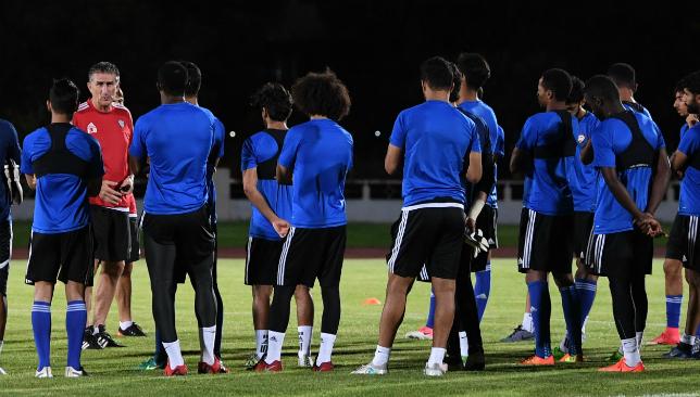 Sticking to his guns: UAE boss Edgardo Bauza (UAE Football Association.