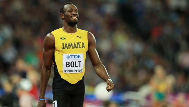 Bidding farewell: Usain Bolt.