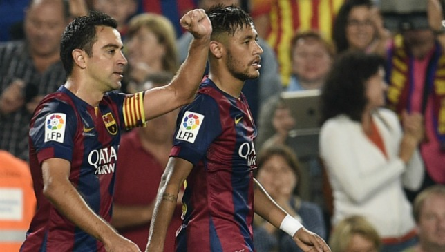 Xavi and Neymar spent two seasons playing alongside each other.