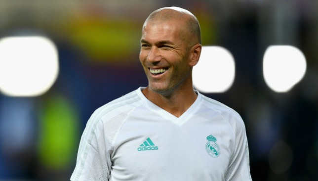 All smiles for Zidane.