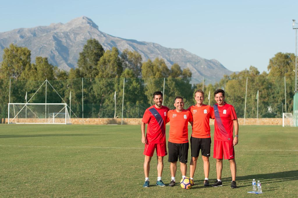 Coaches: (l-r) Juan Ramon Zambrana, Rafael Gil, Enrique Gonzalez, Marcos Fernandez