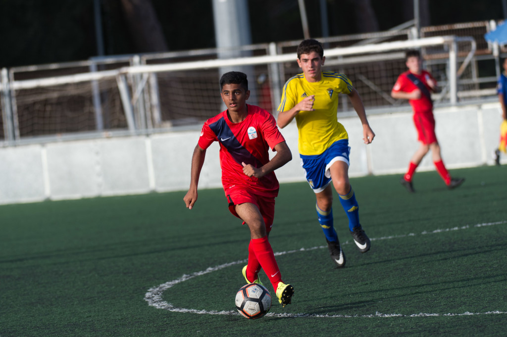 On the move: Under-16s player Abhinav John.