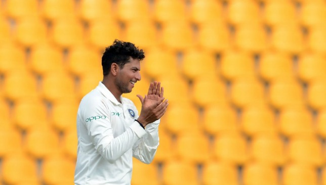 Kuldeep Yadav picked up four wickets to peg back the hosts.